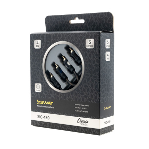 SWAT SIC-450 межблочный кабель 4RCA-4RCA, 5.0 метров